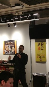 Father Brian of Our Lady of Lourdes at Platt Brewing Company in Denver, Colorado.