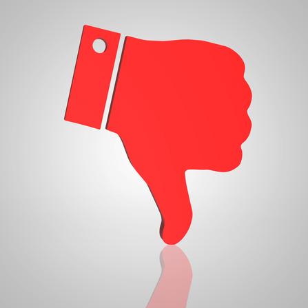 Social media dislike symbo