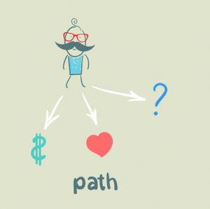 Path towards monetary success, love, or other opportunities.