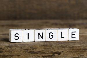 "The word ""single"" written in cubes."