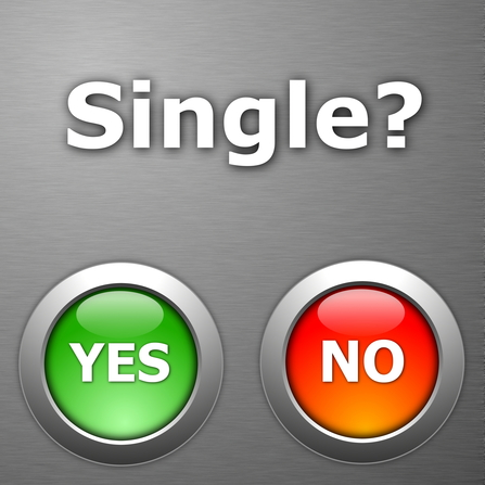 Single? Yes. No. Unmarried?
