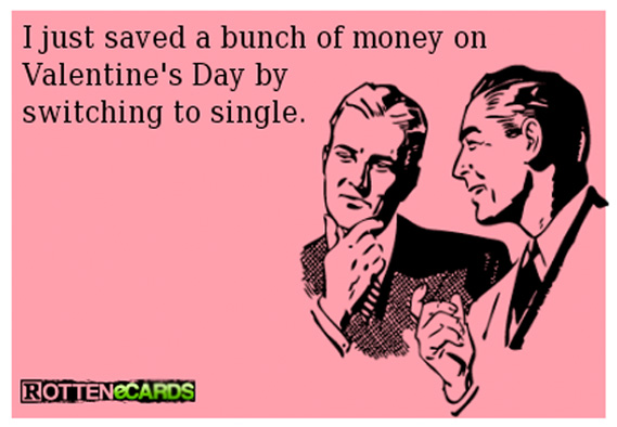 Save Money on Valentine's Day by Being Single