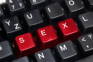 Hot Red SEX on Computer Keyboard