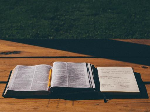 Bible and Notebook Theology Singleness