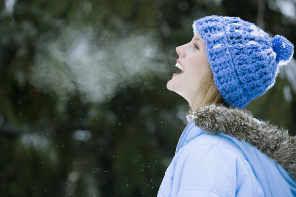Photo Via:www.healthtap.com, woman breathing, a woman in the winter hat, liberating self through breathing.