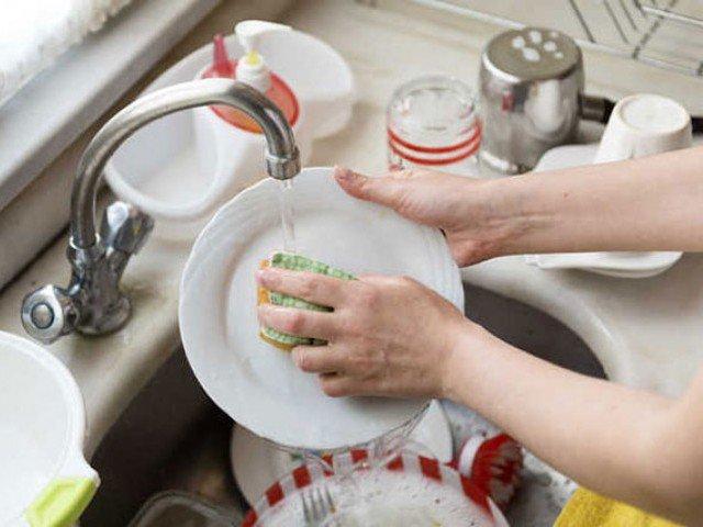 Washing Dishes Friendsgiving