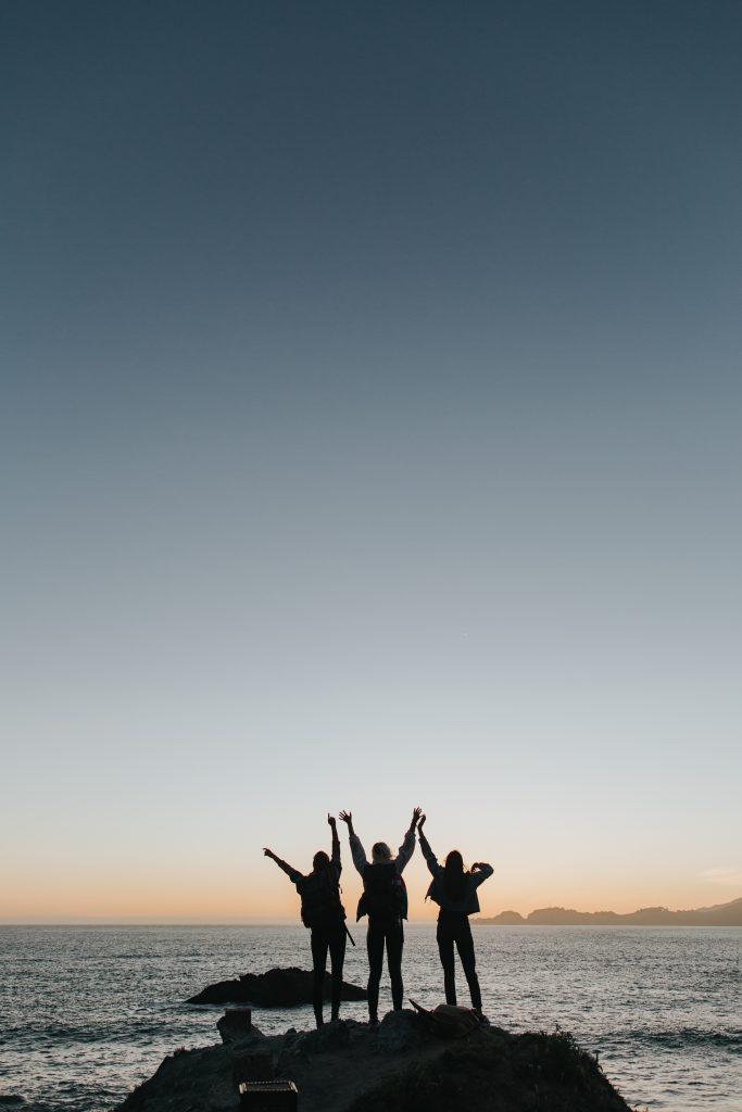 Friends Ocean Rock