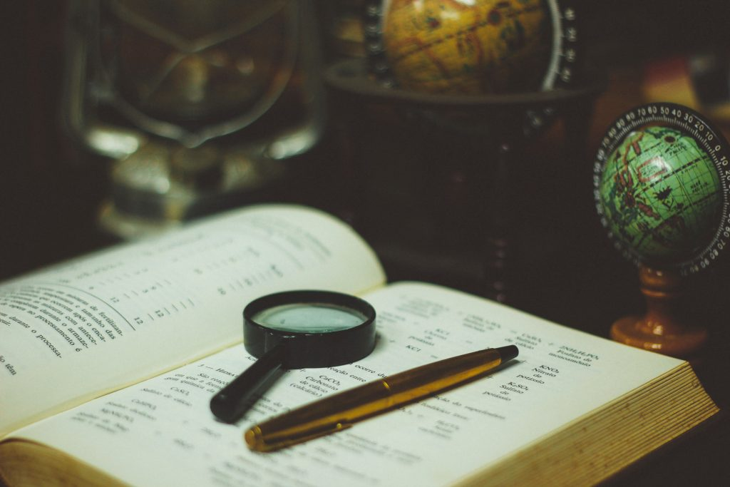 History Magnifying Glass and Book