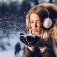 Singles Woman Blowing Snow Earmuffs
