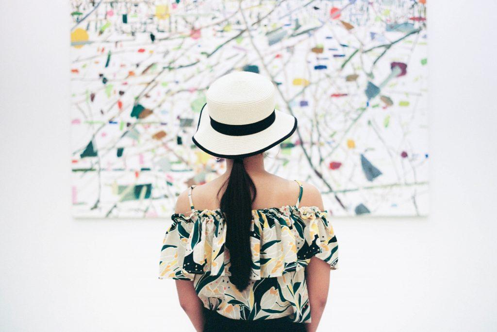 Woman in Art Museum
