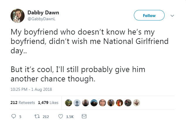 National Girlfriends Day Scariest Moments On Twitter