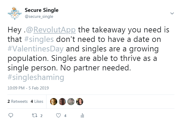Revolut Single Shaming