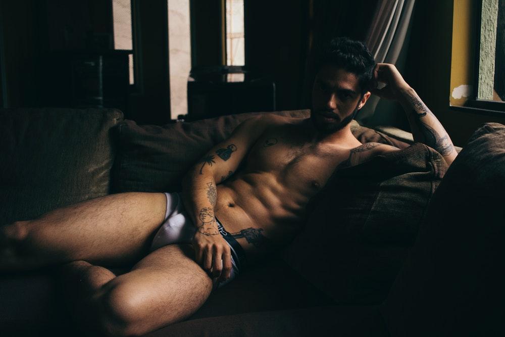 sexy buff guy in his underwear