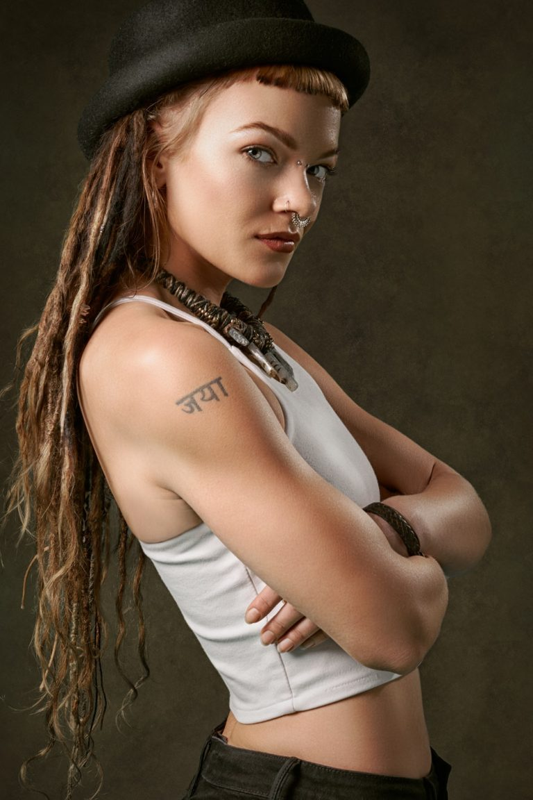 powerful alpha woman with dreads
